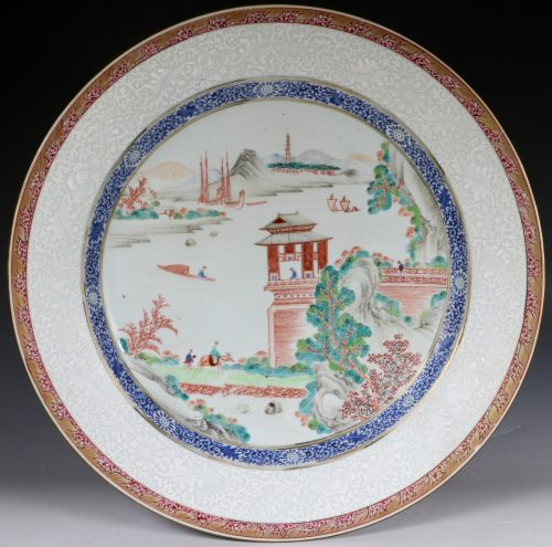 Chinese Famille Rose Charger Qianlong C1750