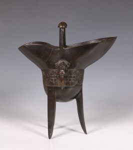 Chinese Bronze Jue Ritual Vessel 18thC