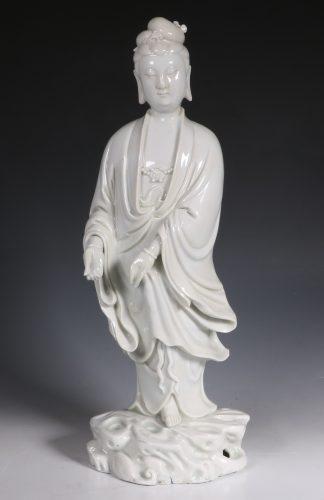 Chinese Blanc de Chine Figure of Guanyin 18/19thC
