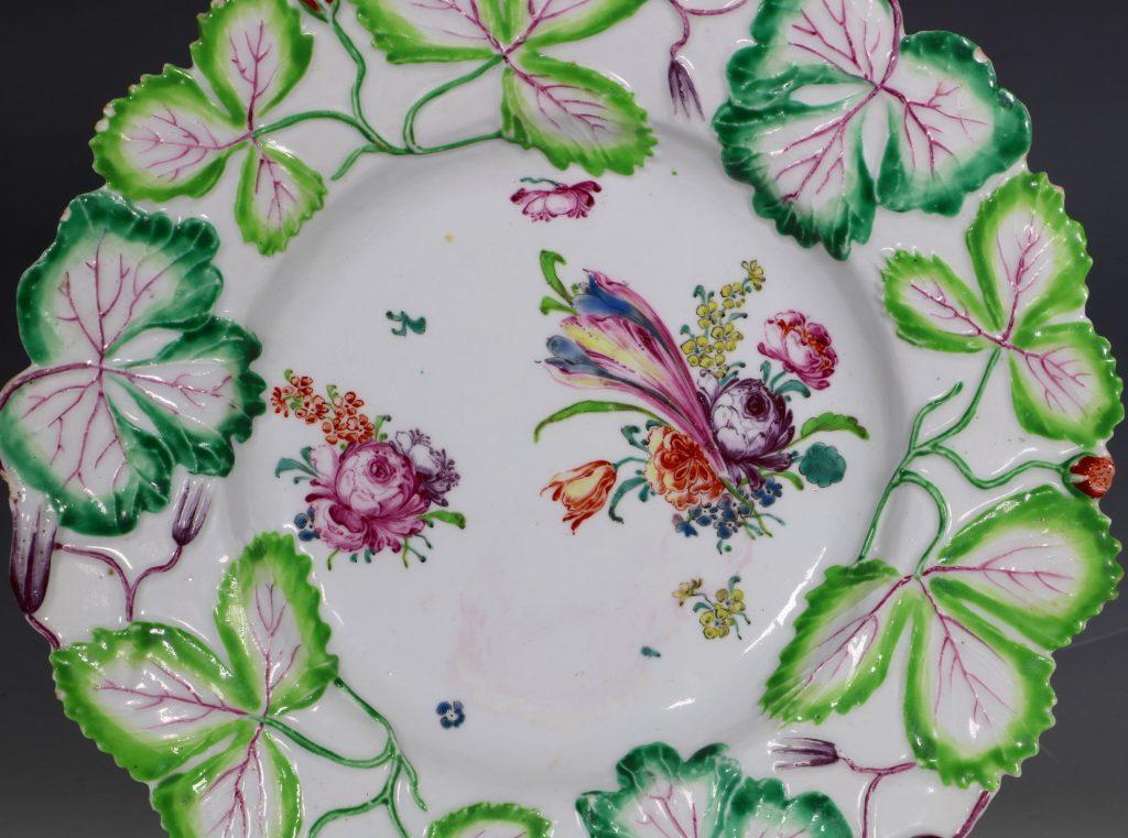 Longton Hall Strawberry Leaf Dish C1755 1