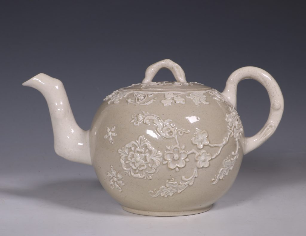 English Saltglaze Teapot C1750/55