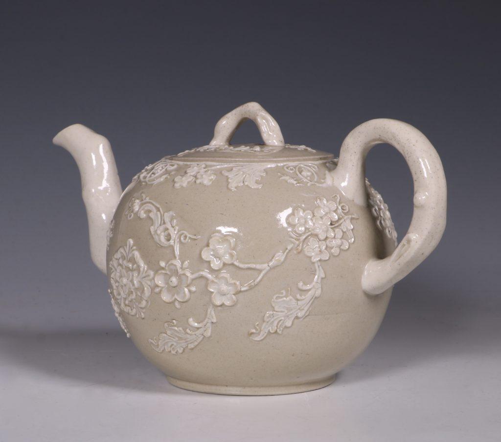 English Saltglaze Teapot C1750/55 6