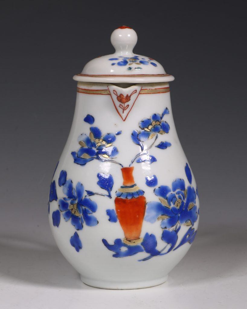 Chinese Enamelled Cream Jug and Cover C1740