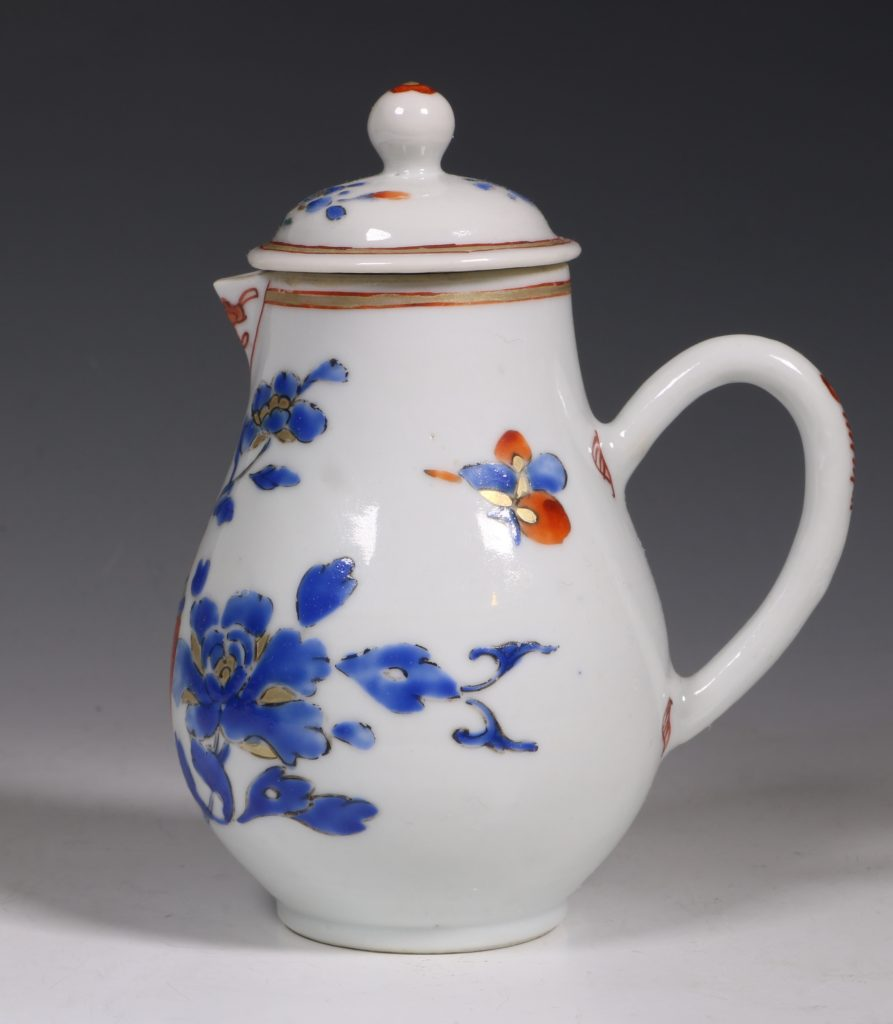 Chinese Enamelled Cream Jug and Cover C1740 1