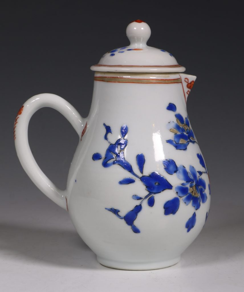 Chinese Enamelled Cream Jug and Cover C1740 5