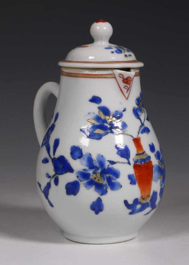 Chinese Enamelled Cream Jug and Cover C1740 6