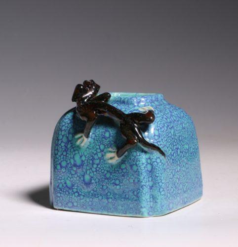 A Robins Egg Glazed Water Pot 19thC