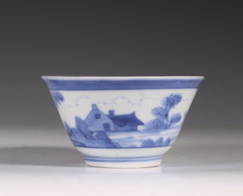 An Arita Blue and White Cup C1700