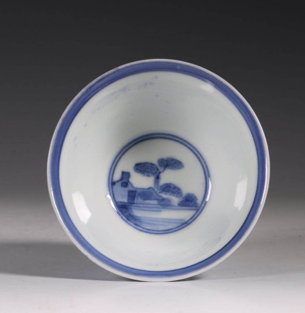 An Arita Blue and White Cup C1700 5