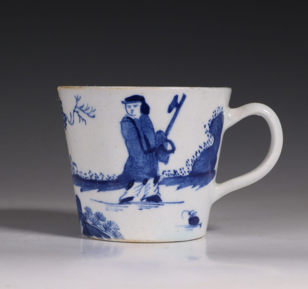 A Bow Blue and White Cup C1760