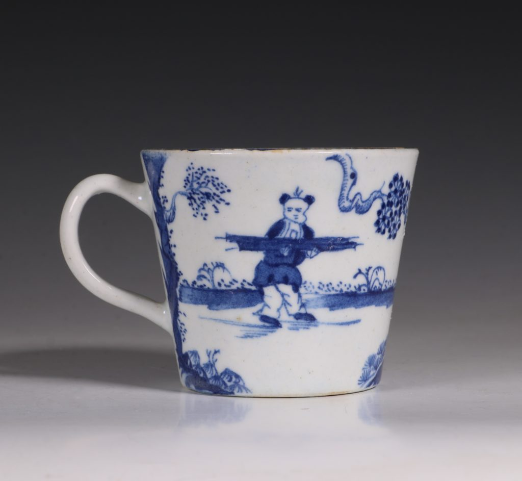 A Bow Blue and White Cup C1760 1