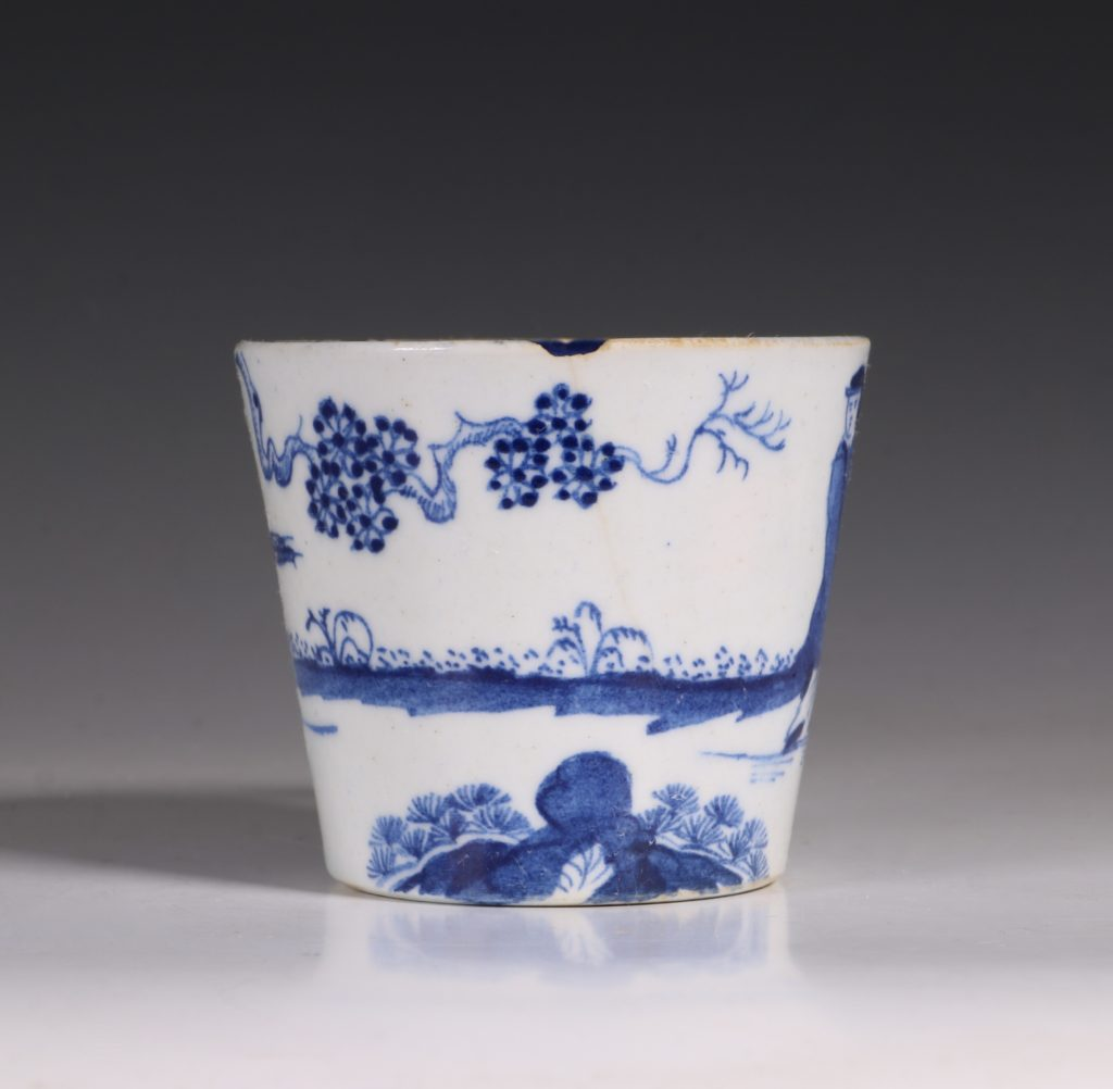 A Bow Blue and White Cup C1760 2