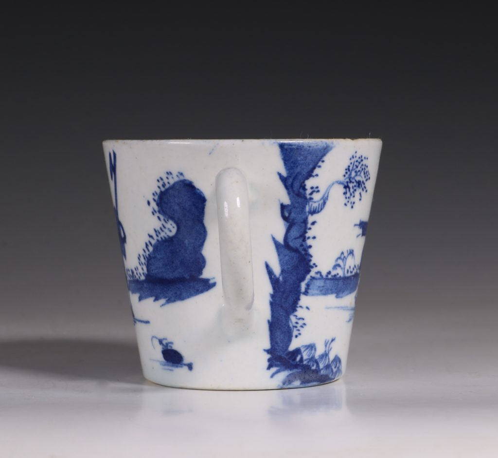A Bow Blue and White Cup C1760 3