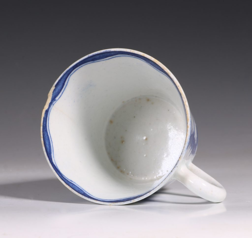 A Bow Blue and White Cup C1760 4
