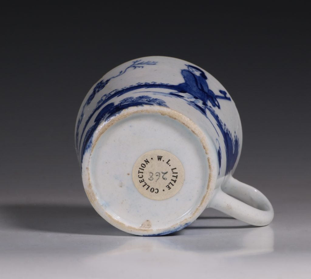 A Bow Blue and White Cup C1760 5