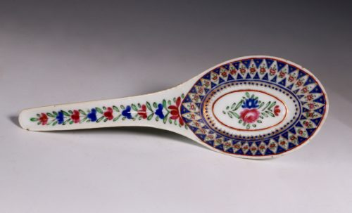A Chinese Islamic Market Famille Rose Spoon C1800