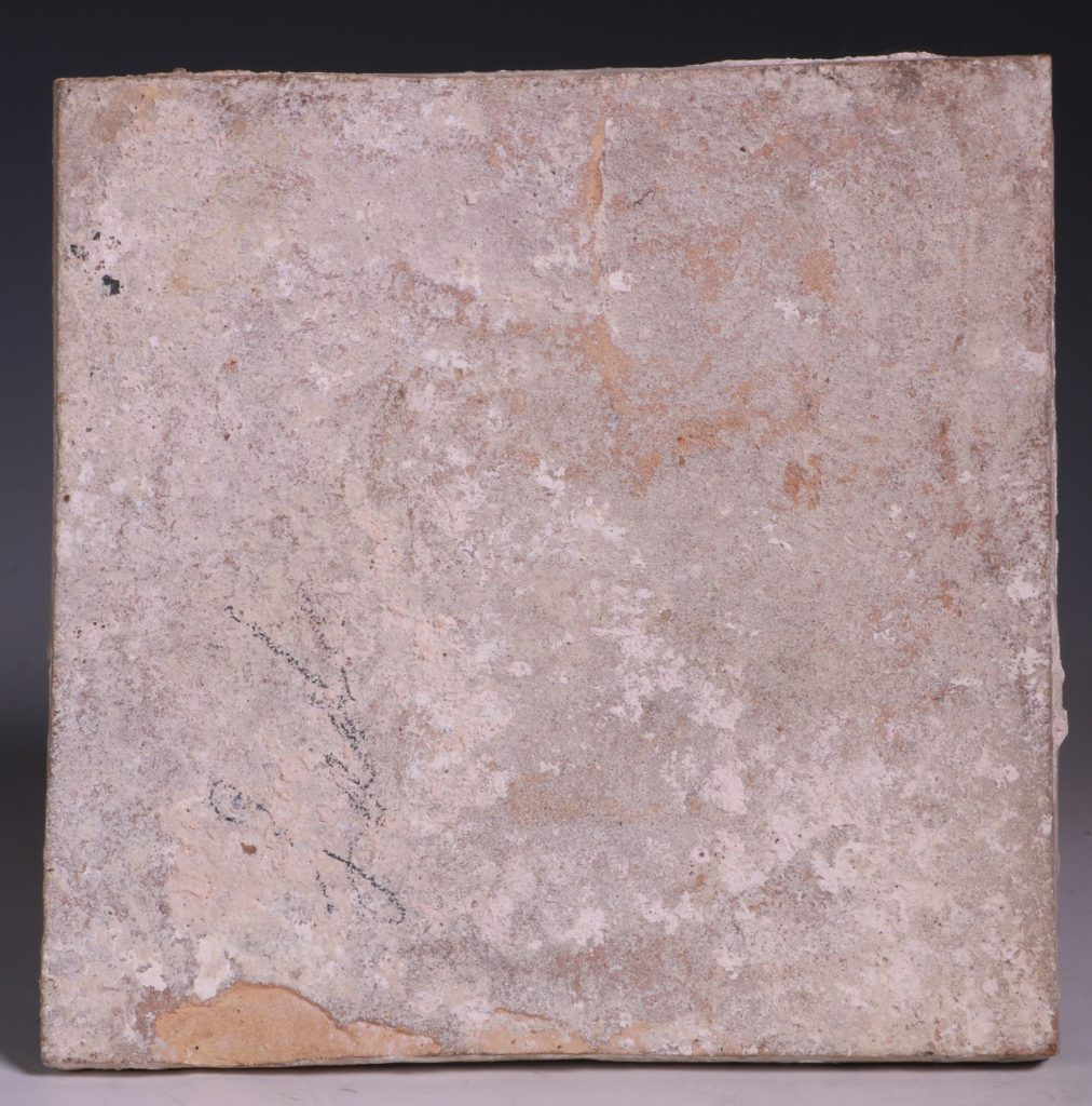 English Manganese Delft Tile C1750 1