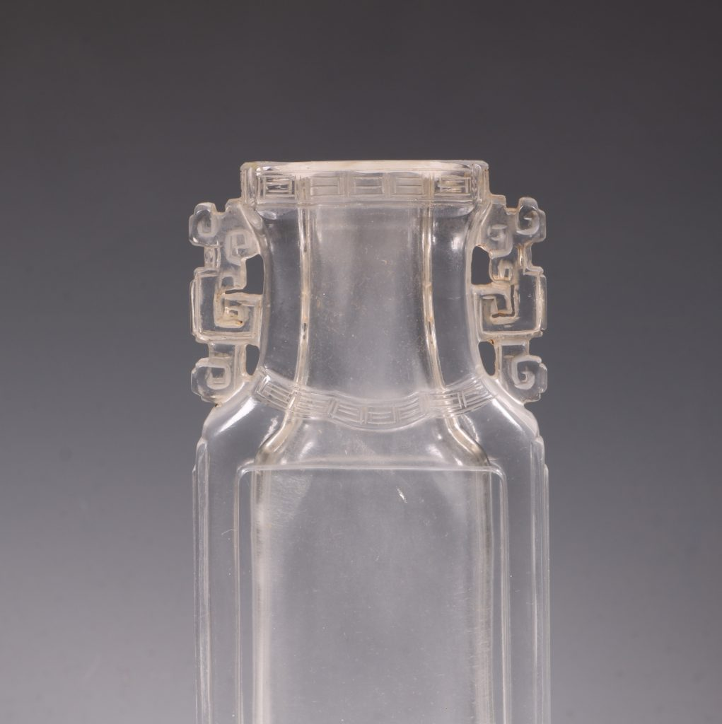 A Chinese Rock Crystal Vase 18/19thC 6
