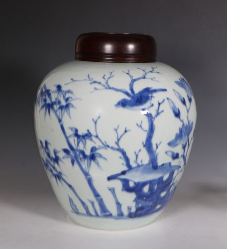 Transitional Blue and White Vase C1640/50