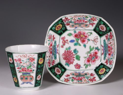 Chinese Famille Rose Beaker and Saucer C1730/5
