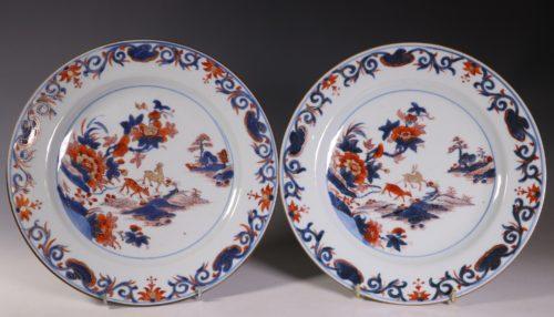 A Set of Four Chinese Imari Plates C1740