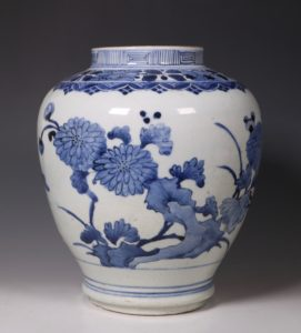 Japanese Arita Blue and White Vase 17thC