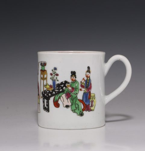 Worcester Polychrome Coffee Can C1765