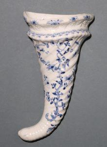 Worcester Blue and White Cornucopia C1755