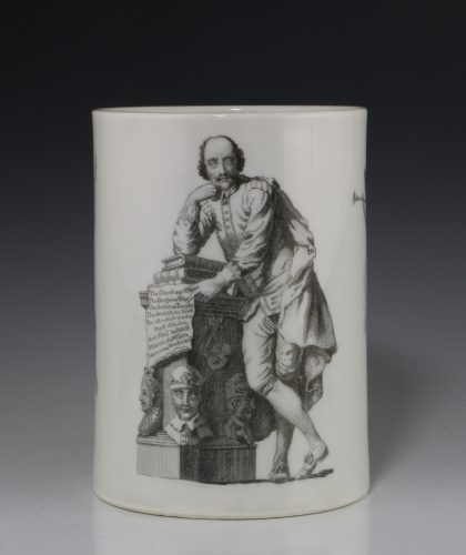 Fine Worcester Tankard Onglaze Printed 'Shakespeare' Tankard C1769