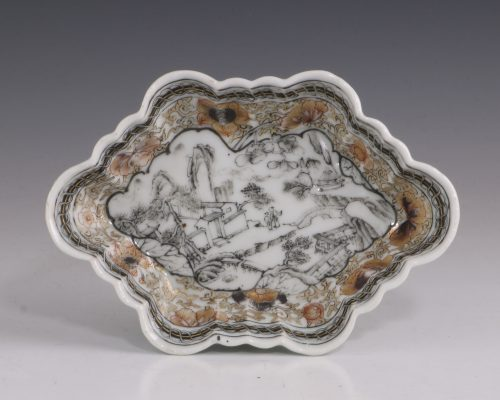 Chinese Grisaille Spoon Tray Yongzheng C1730/40
