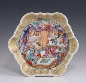 Chinese Famille Rose Teapot Stand C1740