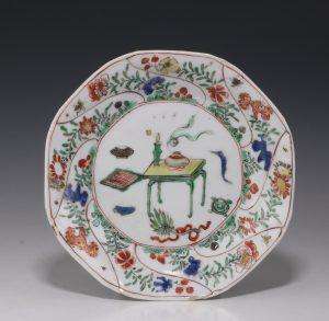 Chinese Famille Verte Small Dish 'G' Mark Kangxi E18thC