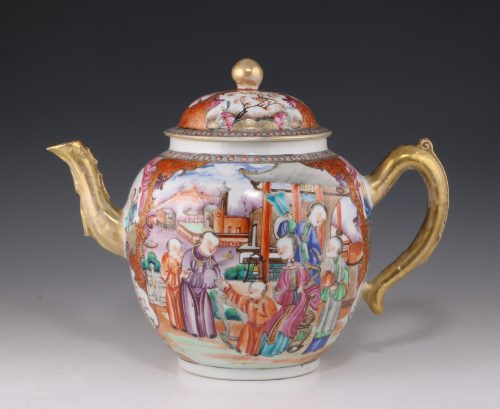 Fine Chinese Famille Rose Teapot Qianlong C1760