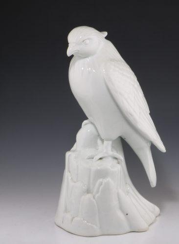 Japanese Hirado Figure of a Hawk 19thC