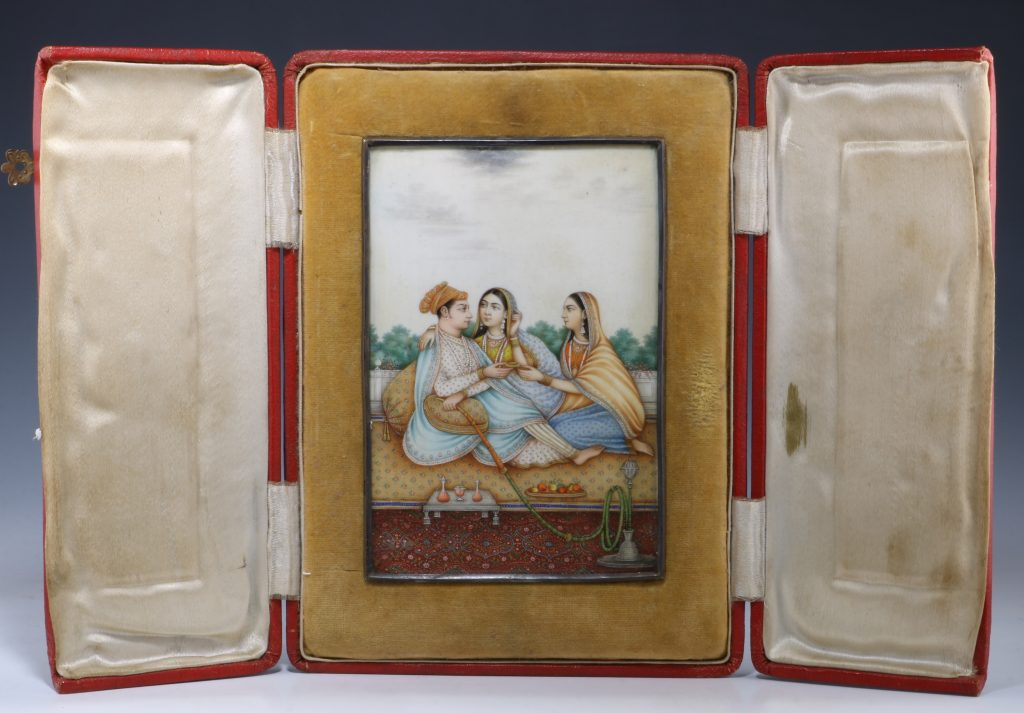 Fine Indian Painting on Ivory 19thc 1