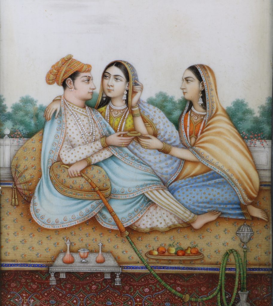 Fine Indian Painting on Ivory 19thc 2
