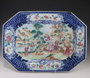 Chinese Famille Rose Meat Plate Qianlong C1760/70