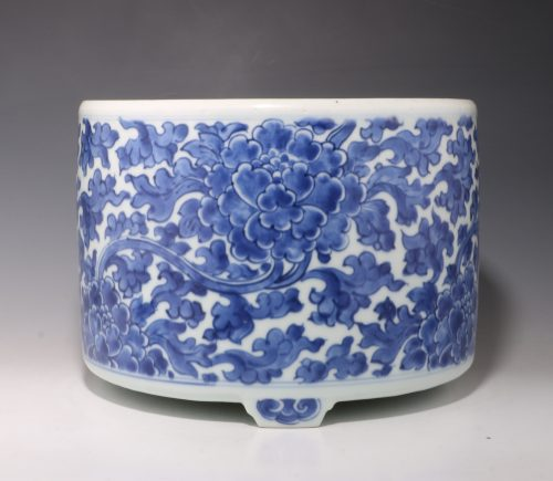 A Blue and White Bitong Early Kangxi L17thC