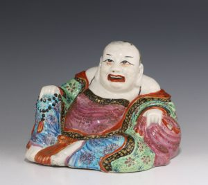 Chinese Famille Rose Figure of Putai C1800