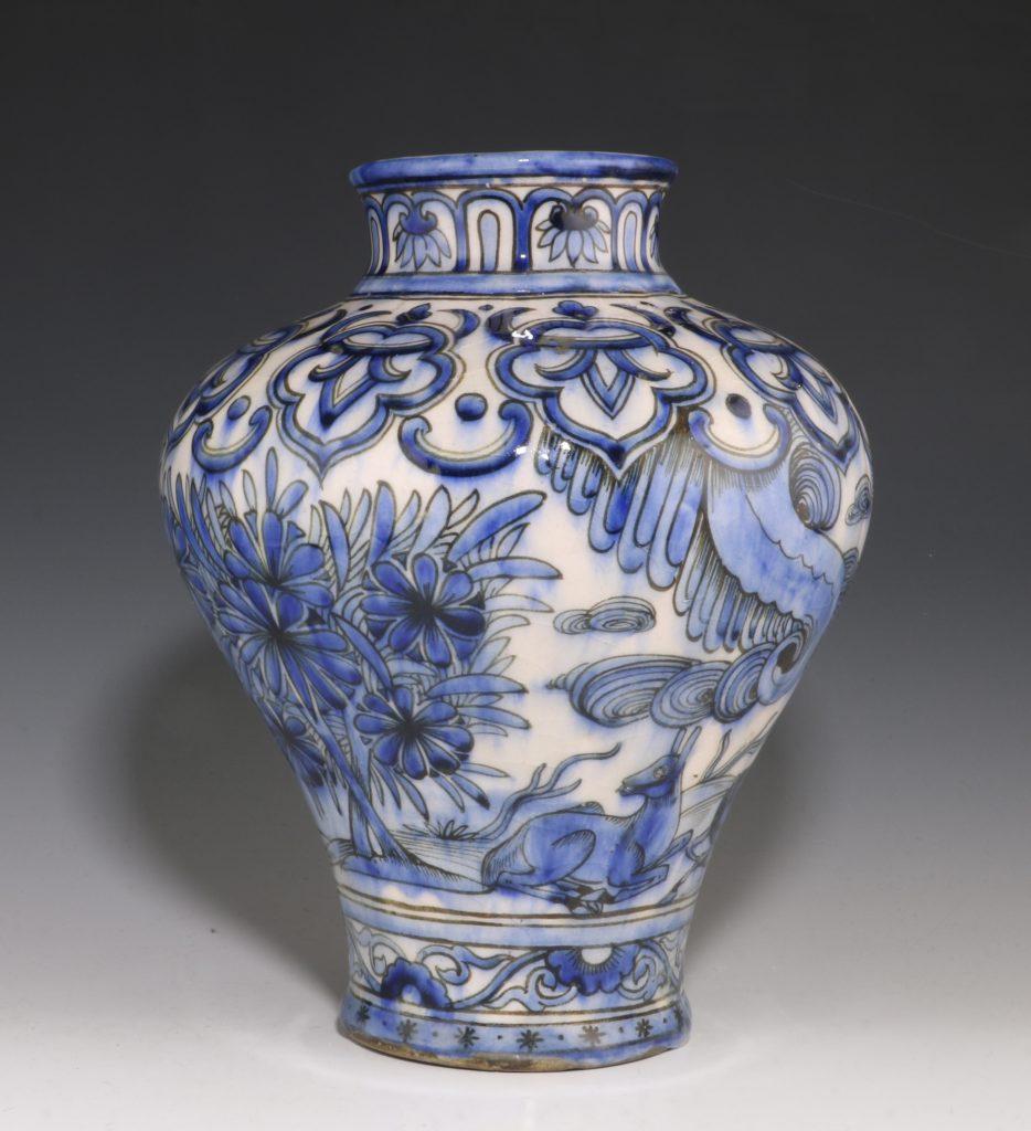 Qajar Blue and White Vase 19thC 1