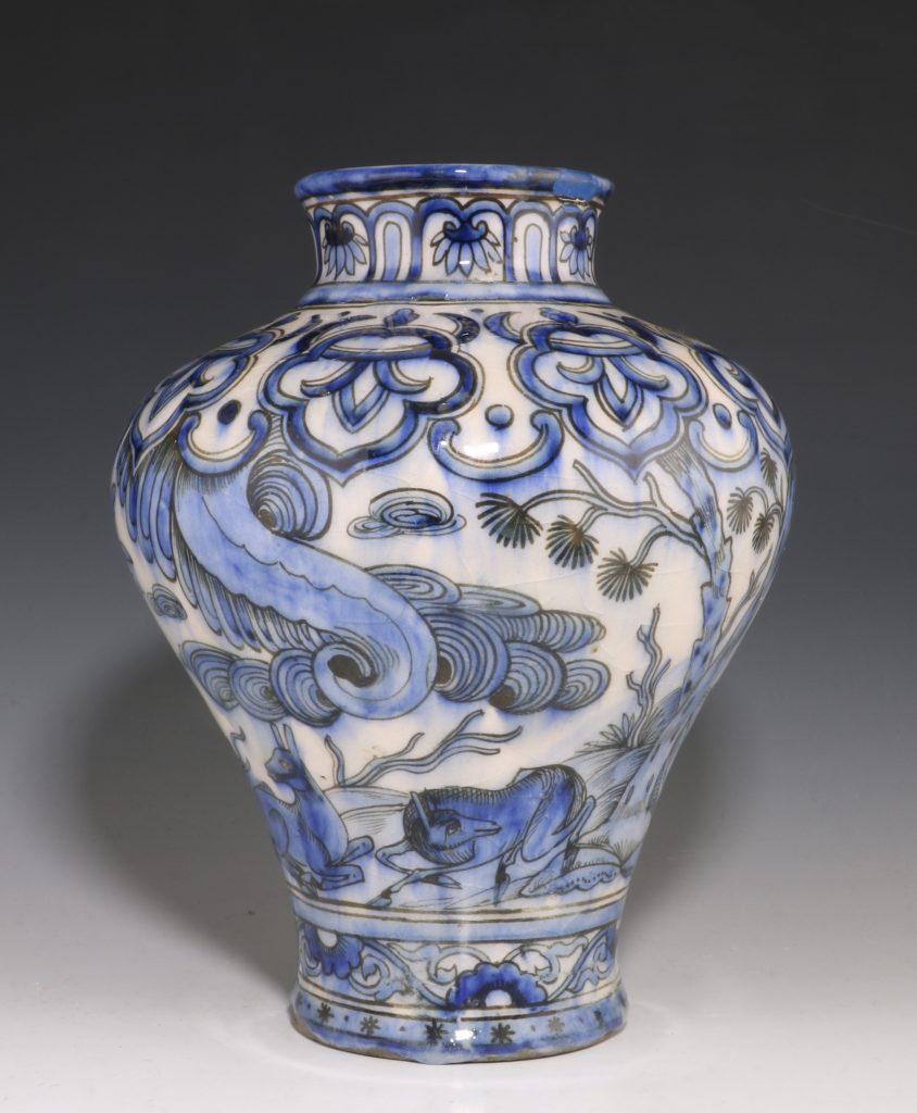 Qajar Blue and White Vase 19thC 3