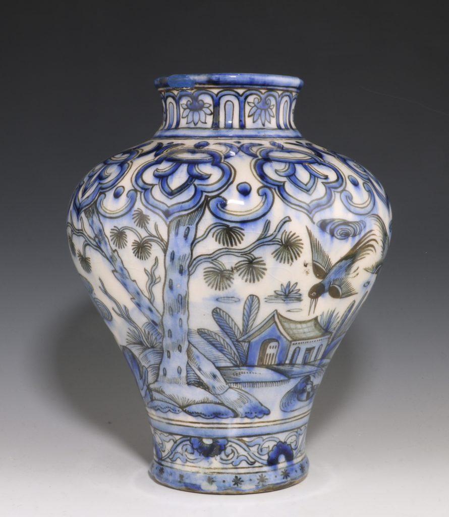 Qajar Blue and White Vase 19thC 4