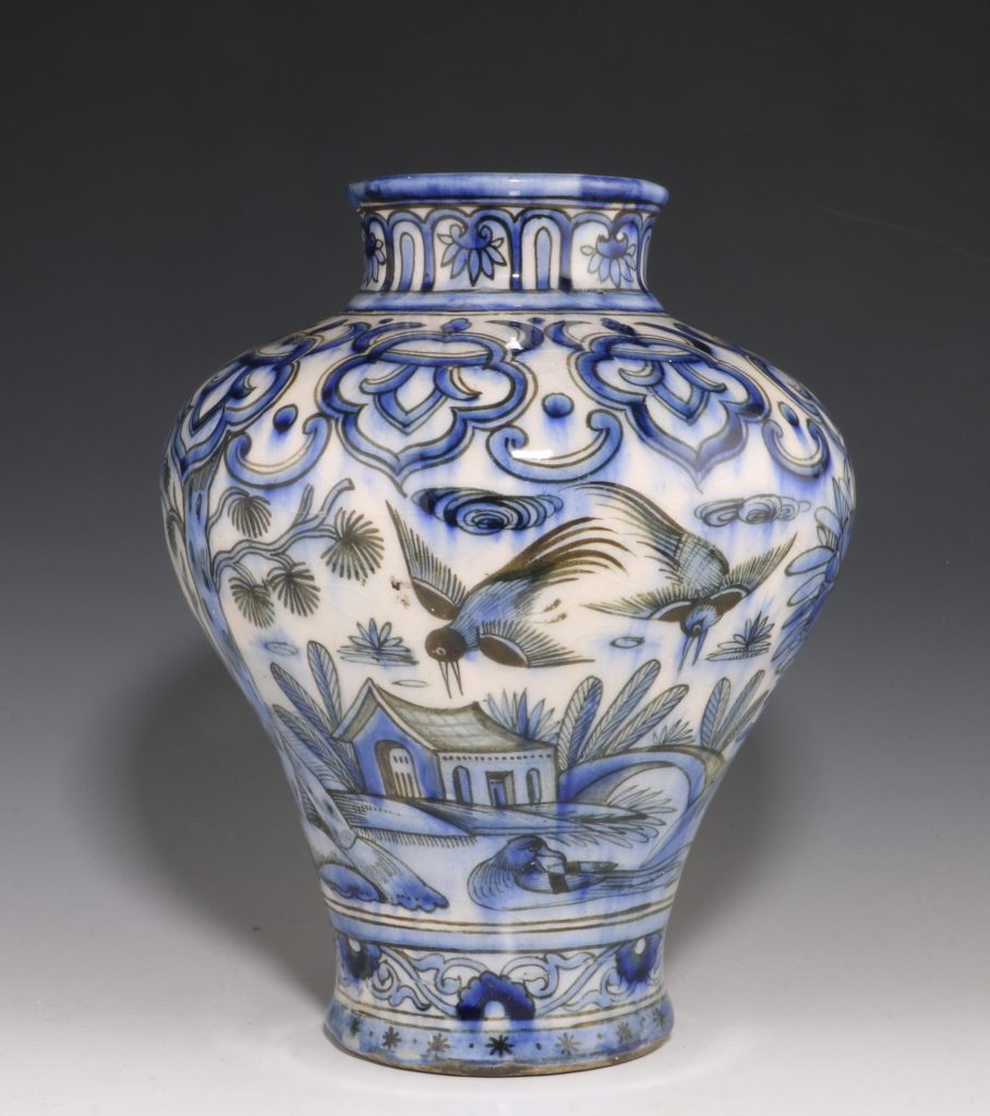 Qajar Blue and White Vase 19thC 5