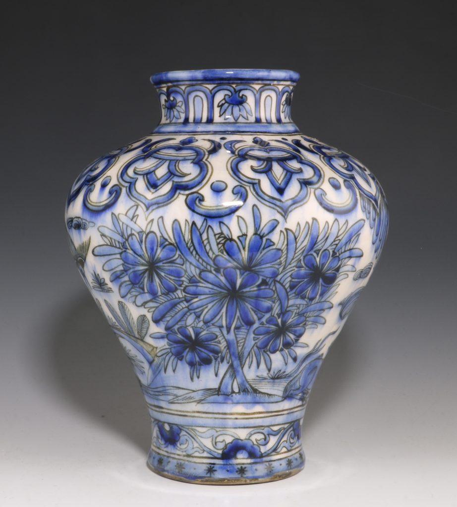 Qajar Blue and White Vase 19thC 6