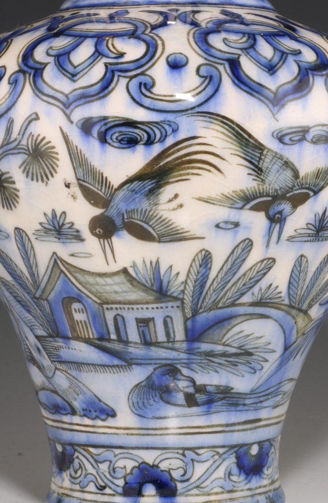 Qajar Blue and White Vase 19thC 8