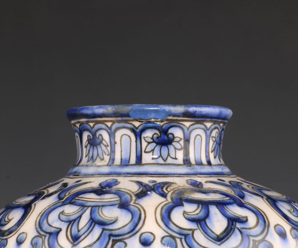 Qajar Blue and White Vase 19thC 10