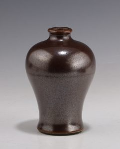Chinese Iron Rust Glazed Monochrome Miniature Meiping 18thC