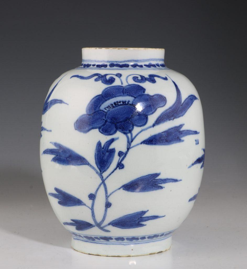 Dutch Delft Blue and White Small Jar L17thC 1