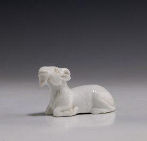 Japanese Hirado Figure of a Goat 19thC