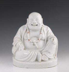Blanc de Chine Figure of Budai 19thC
